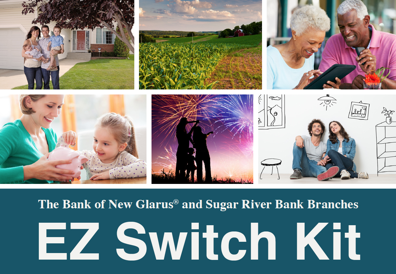 EZ Switch Kit Banner with images of people and their families
