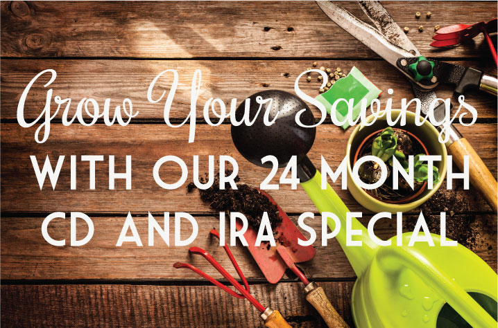 Grow Your Savings with our 24 Month CD and IRA Special!