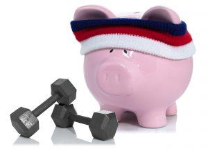 Piggy Bank weight lifting